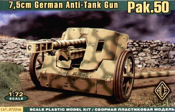 ACE 72246 Pak.50 7.5 cm German Anti-Tank Gun (1:72)
