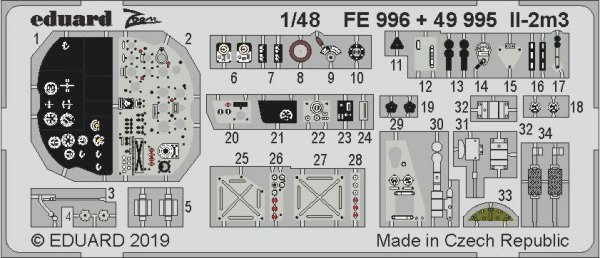 Eduard 49995 Il-2m3 interior 1/48 TAMIYA