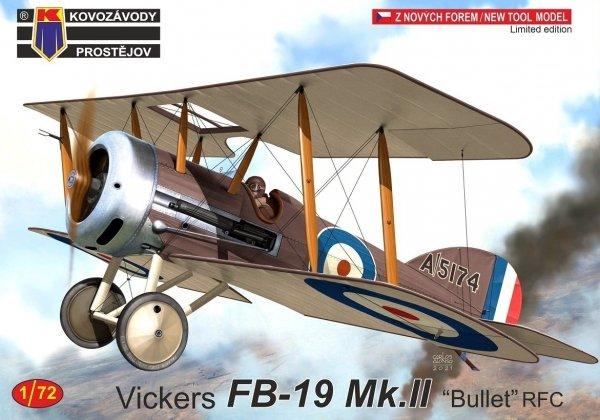 "Kovozavody Prostejov KPM0250 Vickers FB-19 Mk.II ""Bullet"" RFC"" 1/72"
