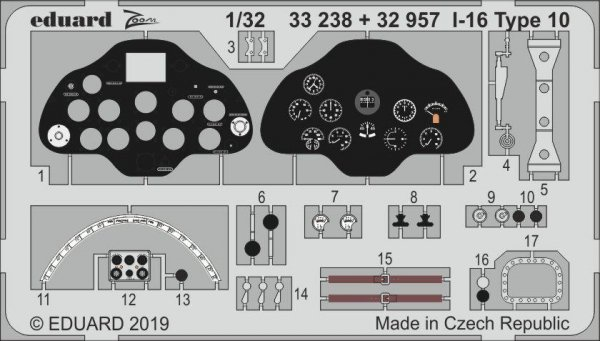 Eduard 33238 I-16 Type 10 1/32 ICM