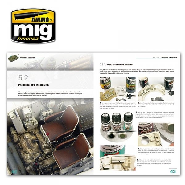 AMMO of Mig Jimenez 6151 ENCYCLOPEDIA OF ARMOUR MODELLING TECHNIQUES VOL. 2 – INTERIORS & BASE COLOR (English)