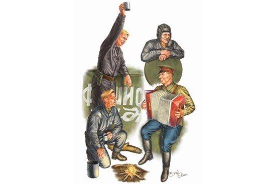 Trumpeter 00413 WW II Soviets tank soldier (1:35)