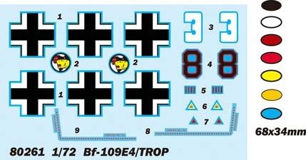Hobby Boss 80261 BF-109E4/TROP (1:72)