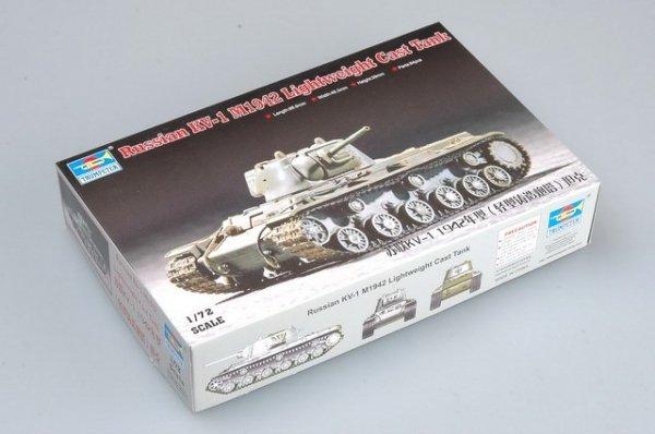 Trumpeter 07233 Russia KV-1 M1942 Lightweight Cast TANK (1:72)