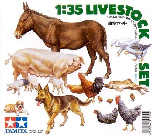 Tamiya 35128 Livestock Set (1:35)