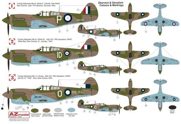 """AZ Model AZ7694 Kittyhawk Mk.Ia """"RAAF"""" 1/72"""