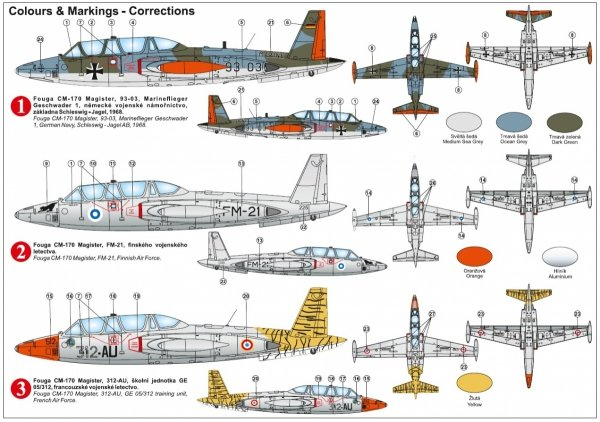 "Kovozavody Prostejov KPM0242 Fouga CM-170 Magister ""Over Europe"" 1/72"