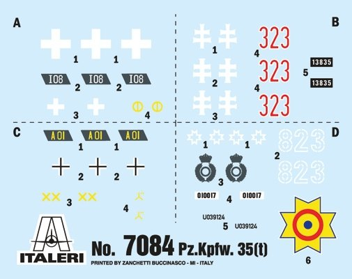 Italeri 7084 Pz. Kpfw. 35(t) 1/72