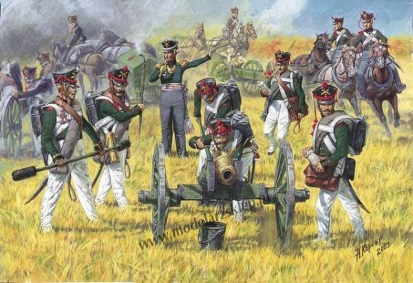 Zvezda 8022 Russian artillery 1812-1814 1/72