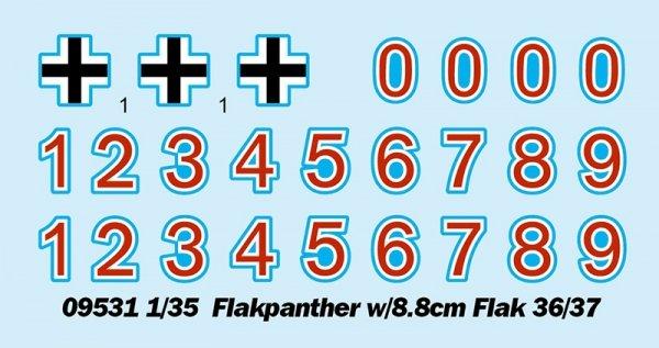 Trumpeter 09531 Flakpanther w/8.8cm Flak 36/37 1/35
