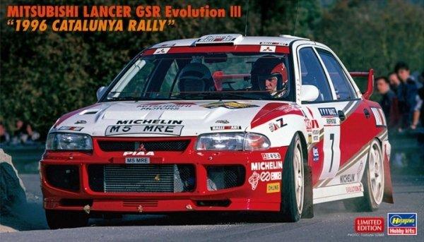 "Hasegawa 20510 Mitsubishi Lancer GSR Evolution III ""1996 Catalunya Rally"" 1/24"
