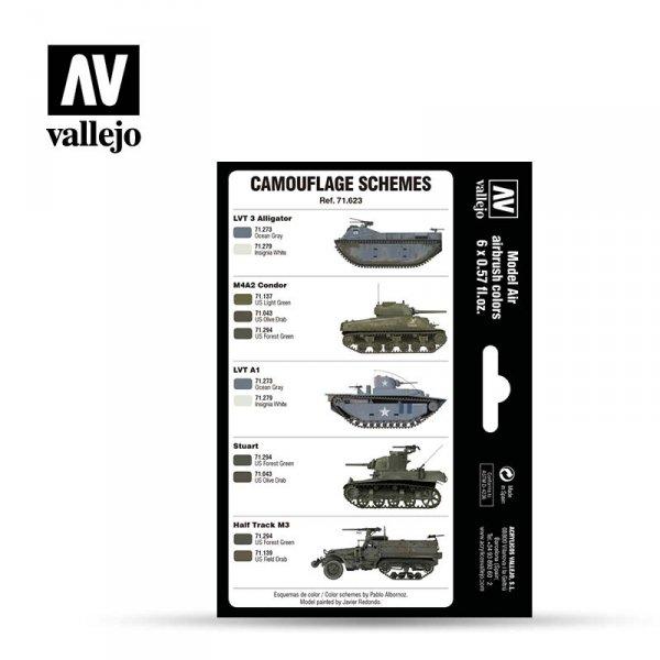 Vallejo 71623 WWII USMC Colors Green & Grey Patterns 1942-1945 6x17ml