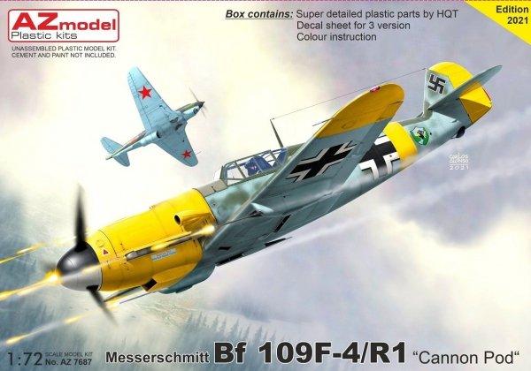 """AZ Model AZ7687 Bf 109F-4/R1 """"Cannon Pod"""" 1/72"""