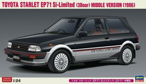 Hasegawa 20425 Toyota Starlet EP71 Si-Limited (3 Door) Middle Version (1986) 1/24