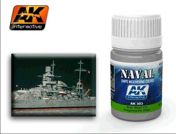 AK Interactive AK 303 Grey Wash For Kriegsmarine Ships 35ml