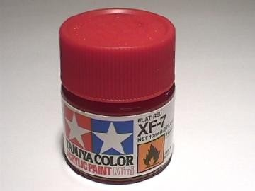 Tamiya XF7 Flat Red (81707) Acrylic paint 10ml