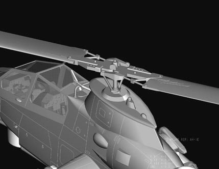 Hobby Boss 87224 AH-1F Cobra Attack Helicopter (1:72)