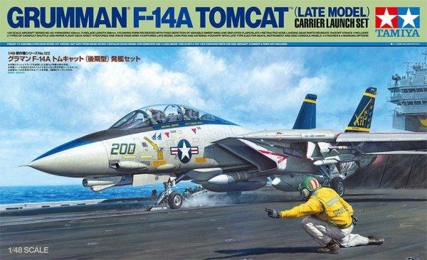 Tamiya 61122 Grumman F-14A Tomcat (Late Model) Carrier Launch Set 1/48
