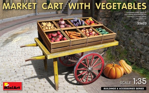 MiniArt 35623 MARKET CART WITH VEGETABLES 35623 1/35