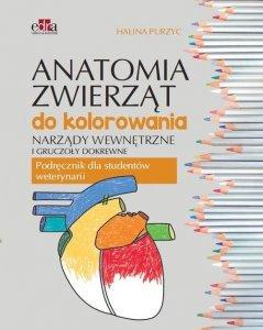 Anatomia zwierząt do kolorowania Narządy wewnętrzne i gruczoły dokrewne