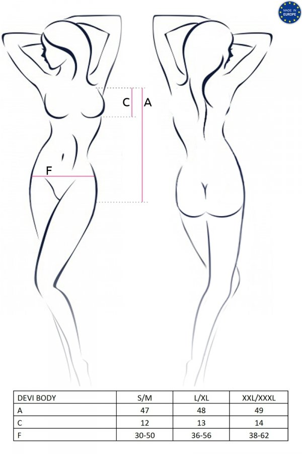 DEVI BODY czarne body