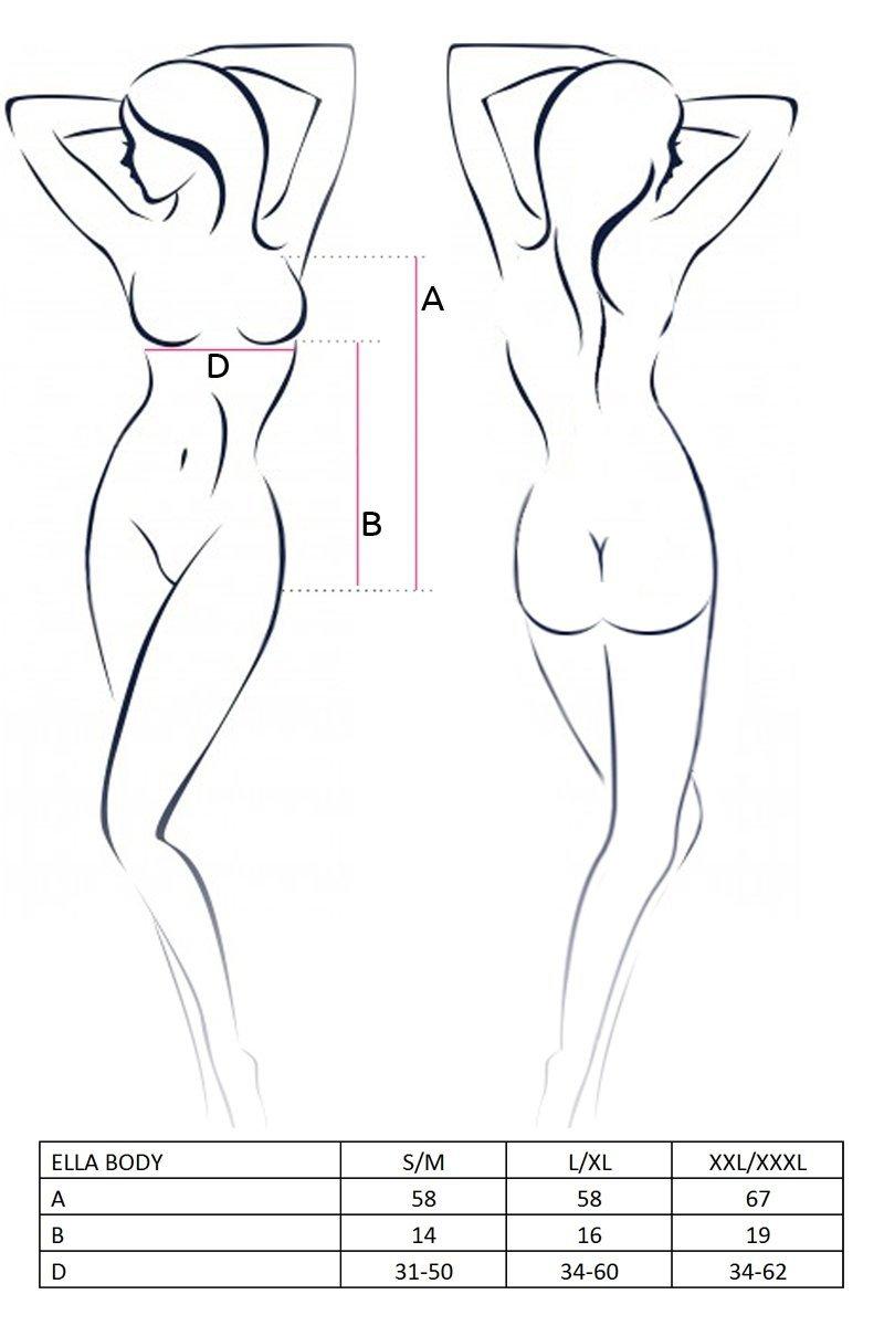 ELLA BODY czarne body