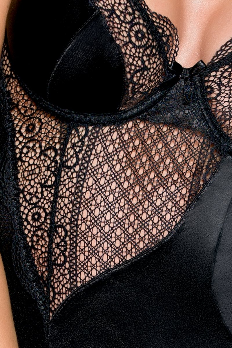 ZAHARA CHEMISE czarna koszulka nocna