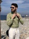 Camicia uomo slim fit - Camicia colorata a fantasia