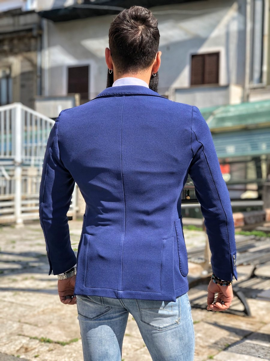 24c851ce3b Giacca uomo blu - Giacche uomo sportive - Blazer Uomo - Gogolfun.it