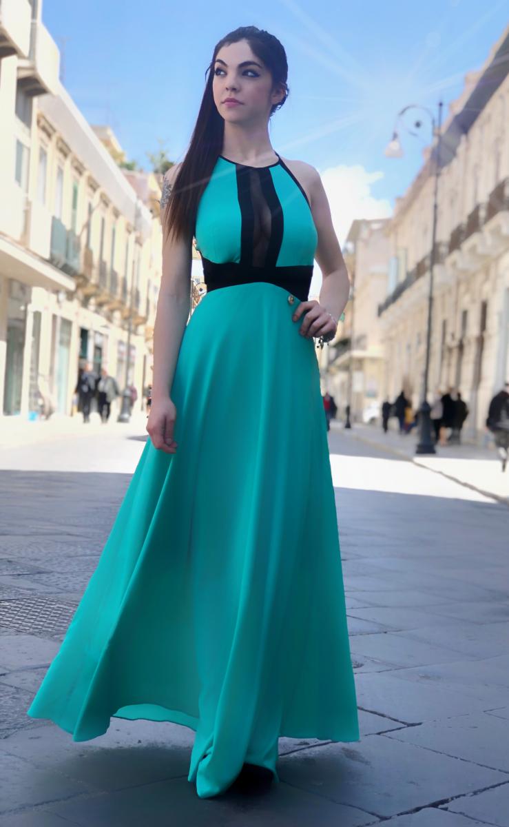 d91ee6ecd612 Vestito Tuwe lungo - Abito elegante donna - Cerimonia donna - Gogolfun.it