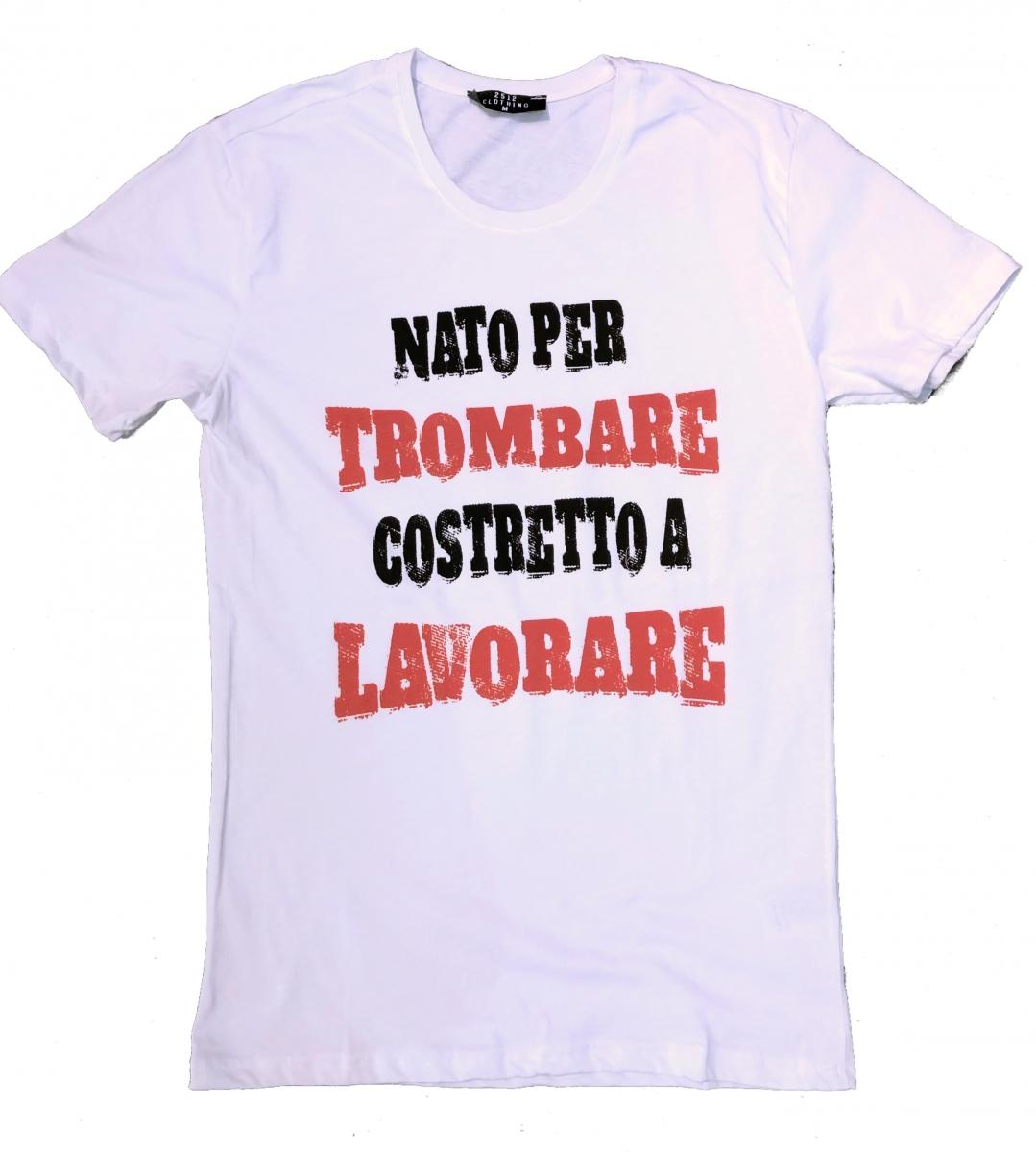 new style 409f0 70dce T shirt uomo - Maglietta bianca con Scritta divertente