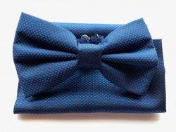 Papillon azzurro - con pochette - Papillon uomo