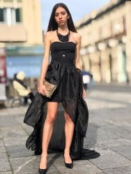 Abito Roberta Biagi - Vestito elegante nero - Blaky