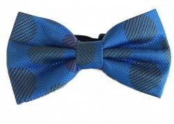 Papillon blu elettrico - Papillon Uomo con pochette - Papillon con pois grandi
