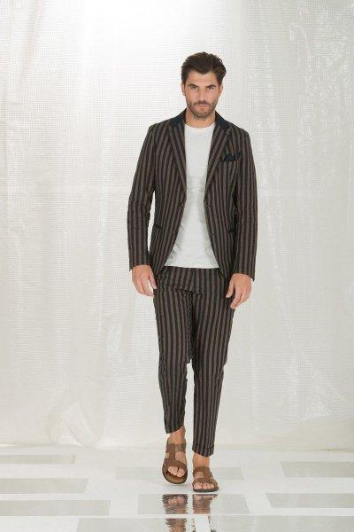 Pantaloni eleganti uomo - Pantaloni slim - Pantaloni a righe