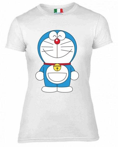 T shirt donna - Bianca - Doreamon - Gogolfun.it