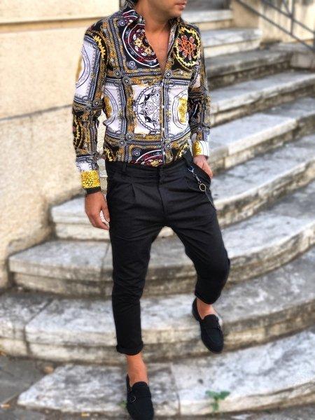 Camicia uomo particolare, stile Versace - Gogolfun.it