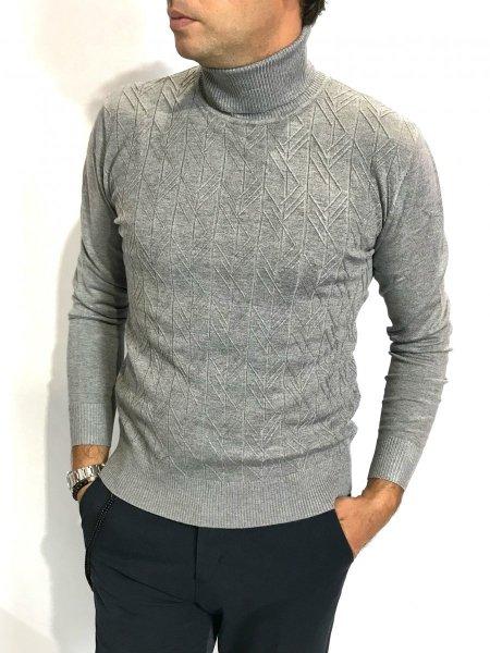 dolcevita uomo, grigio - Gogolfun.it  Męski sweter z golfem, kolor szary - Made in Italy - Gogolfun.pl