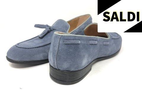 Mocassini uomo, blu chiari - Made in Italy - Gogolfun.it