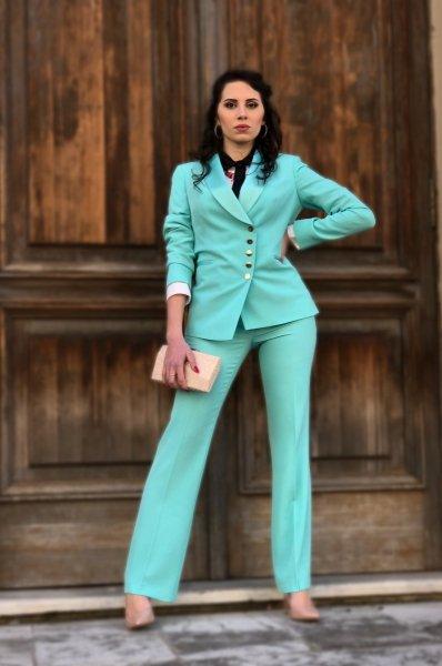 Tailleur elegante giovanile - Verde tiffany  - Tailleur donna - Gogolfun.it