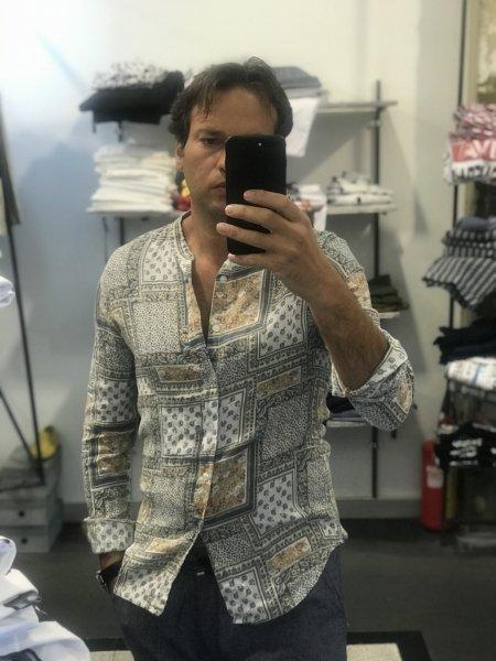 Camicie slim, fantasia - Puro Lino - Gogolfun.it