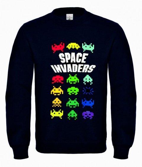 Felpa nera - Space invaders - Gogolfun.it