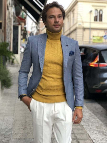 Dolcevita uomo giallo - Abbigliamento uomo gogolfun.it