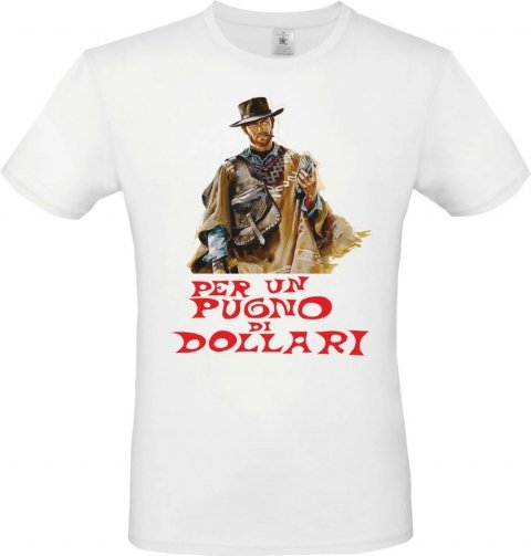 T shirt bianca - Per un pugno di dollari - Clint Eastwood - Gogolfun.it