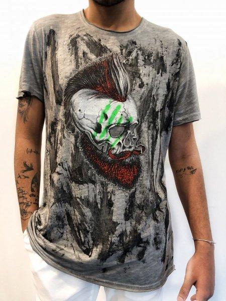 T shirt uomo Kik - Maglietta con stampa in rilievo