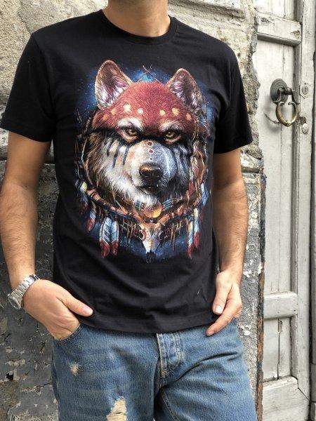 T shirt nera, fluorescente - T shirt uomo gogolfun.it