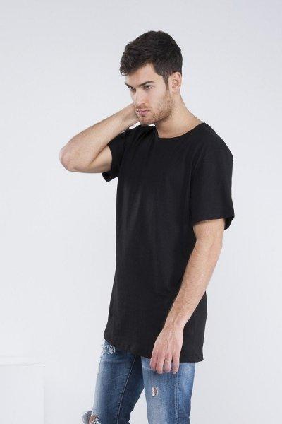 T shirt  lunga - Nera - Gogolfun.it