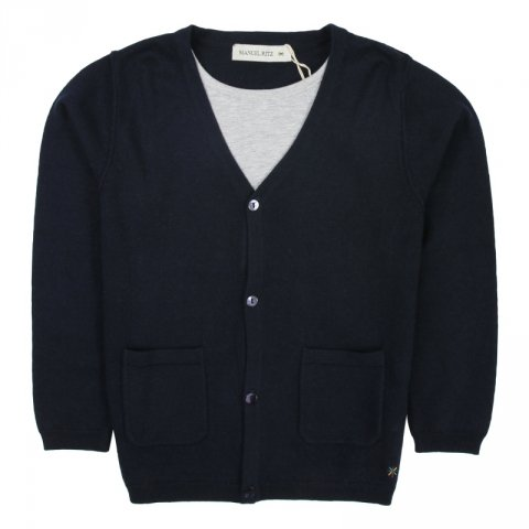 Cardigan bambino,  scuro Manuel Ritz - Gogolfun.it