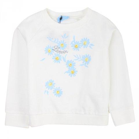 Felpa bianca bambina - Lanvin - Abbigliamento bambini - Gogolfun.it
