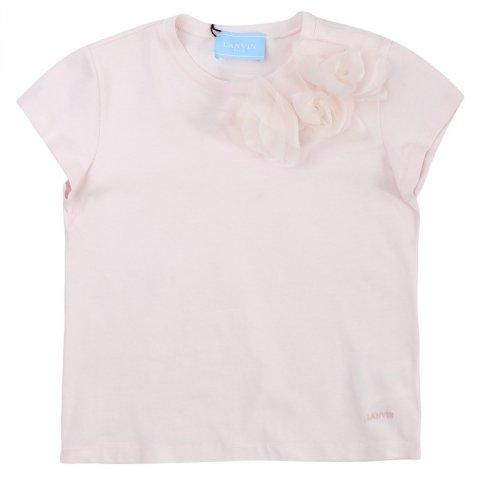 Maglietta bambina , rosa - Lanvin - Abbigliamento bambini - Gogolfun.it